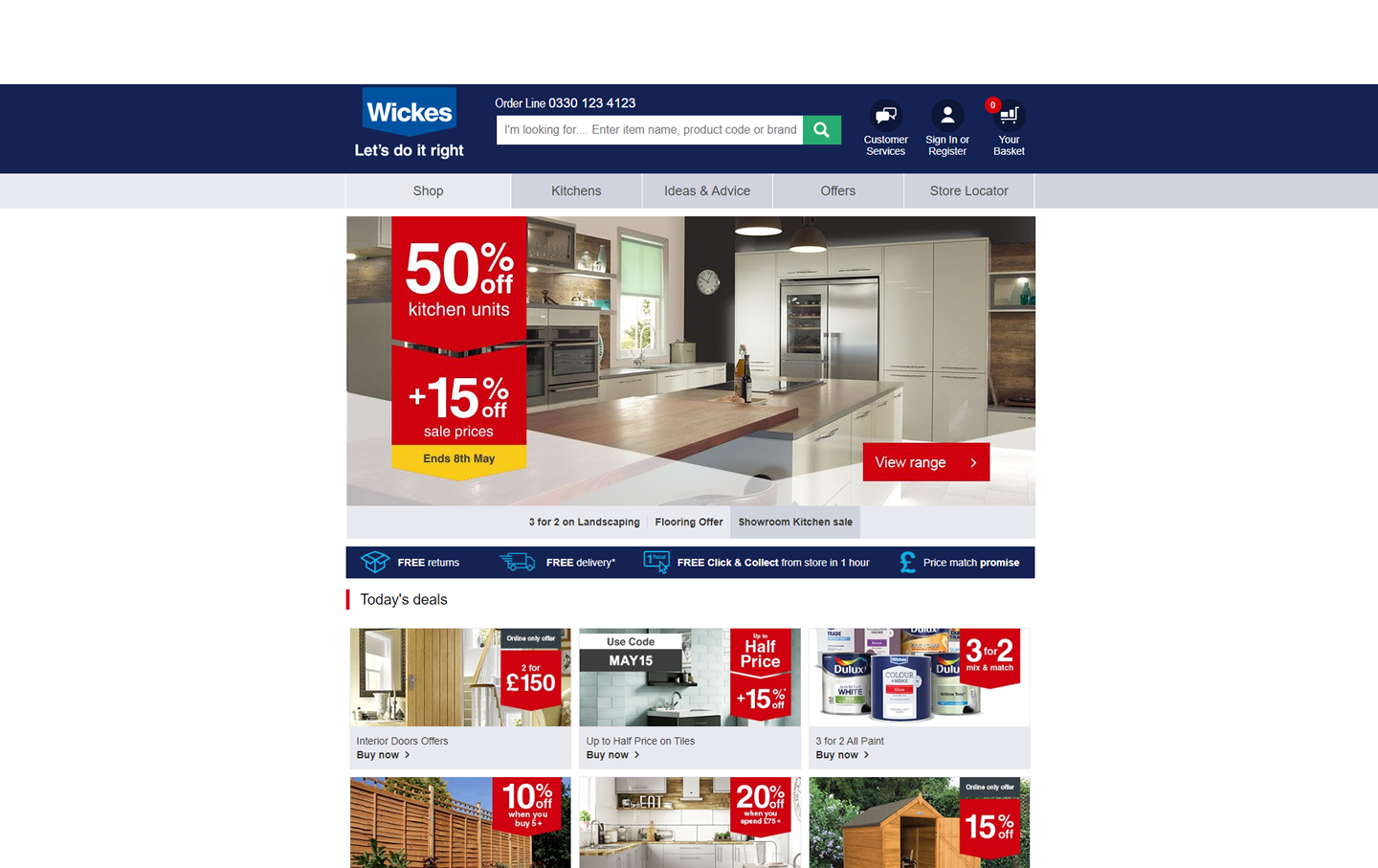 Wickes Homepage 2015